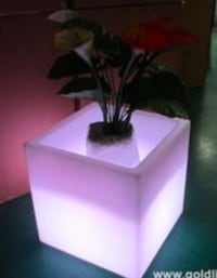 Planters with lights x2