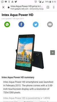 I want to my sell Iqwa power hd mobile phone Surat, 395003