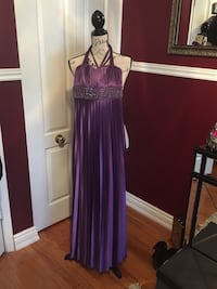 Purple pleated dress size medium  Oakville, L6H 1Y5