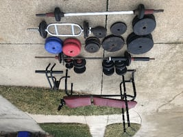 Weights, bench and bars. (sterling heights)