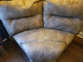 End of a sectional sofa