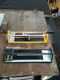 Tile cutters 13x13 max. inches 15$ both or 10$ each Bridgeport