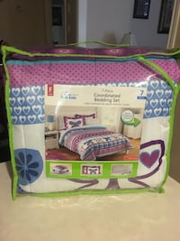 BRAND NEW Still In the Package, never been opened. 7 Piece Full Size Purple Butterfly comforter set  Beaumont, 77713