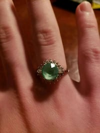 Green Diamond Sterling Silver Ring Size 6 Lindenwold, 08021
