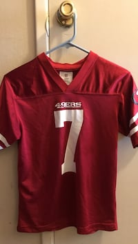 red and white 49ers 7 jersey shirt