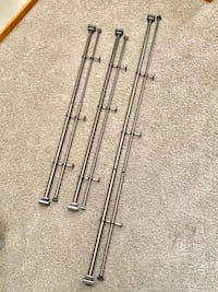 Brushed nickel long curtain rods Fircrest, 98466