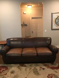 brown leather 3-seat sofa Clinton, 39056