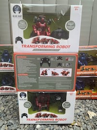 Transforming robot radio controlled car by blue hat toy co $5 each