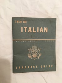 Italian Language Guide Vintage Book Halethorpe, 21227
