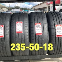 2 used tires 235/50/18 Continental