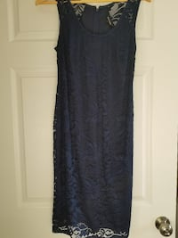 Stork and babe blue lace maternity dress