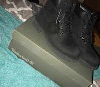 Pair of black timberland work boots with box Sumter, 29154