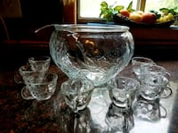 clear cut glass footed bowl Alexandria