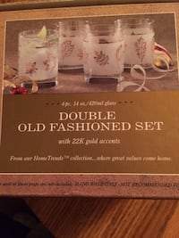 Home Trends - 22k Gold Double Old fashion glass set.  Great gift! $10.