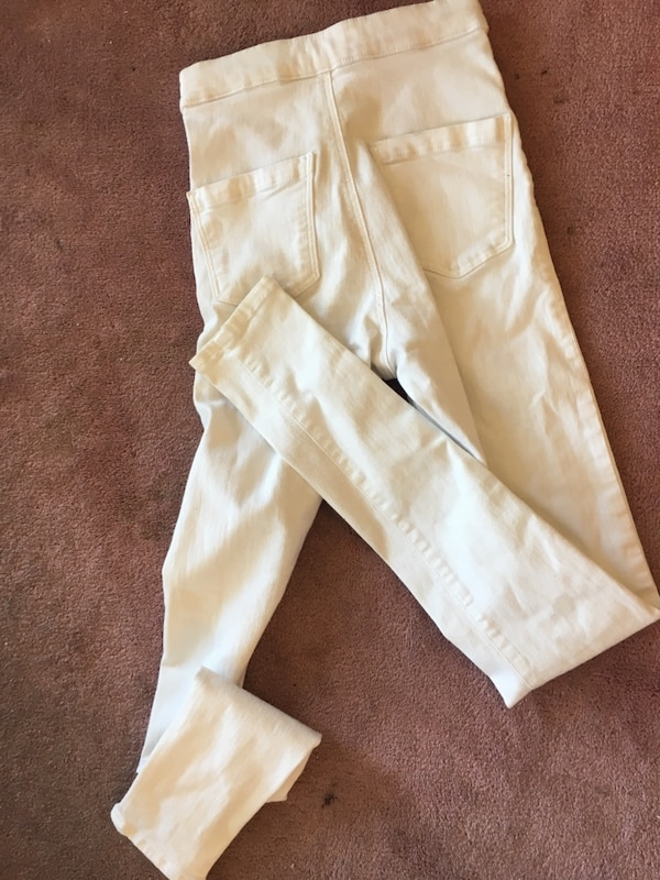 Size 25 topshop white high waisted jeans 1