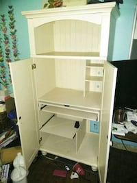 white wooden cabinet with hutch Owasso, 74055