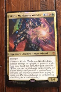 Magic card, Yidris,Maelstrom Wielder, legendary creature.