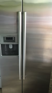 stainless steel side-by-side refrigerator with dispenser Lawrence, 01840