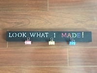 black look what I made-printed wooden wall decor