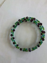 green, black, and white beaded necklace Vancouver, V5K 2B1