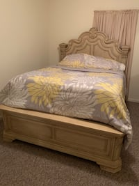 Used Queen Sleigh Bedset And Dresser For Sale In East Lake