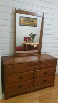 brown wooden dresser with mirror Edmonton, T6A