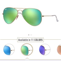 Gold-colored framed ray-ban aviator sunglasses Montreal, H1P 3K7