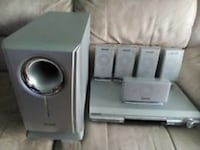 Panasonic Home Theater 5 Disc DVD/CD/ Surround System w/ 250 Watt Sub Las Vegas