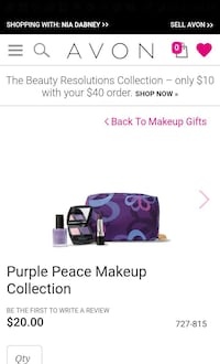 purple Avon peace makeup collection Springfield, 22151