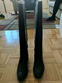 Clark's Leather riding boots - Dark brown