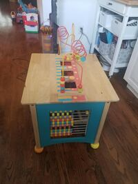 Solid wood activity table and chair