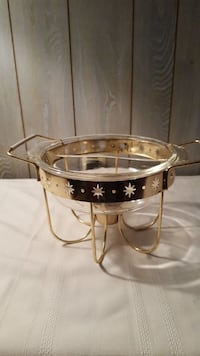 Vintage 1 and 1/2 quart Fire King casserole dish w Hagerstown, 21740