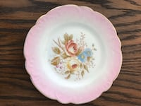 White and pink floral ceramic plate Baltimore, 21236