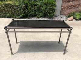 Granite Top and Metal Frame Console