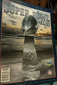 Super Bowl 43 program  Brunswick