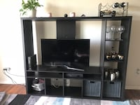 Wooden Dark Brown-Black TV entertainment center Woodbridge, 22191