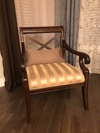 2X Solid wood armchairs with matching cushion  Richmond Hill, L4S 2G7