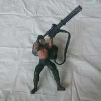 Action figure with mini gun