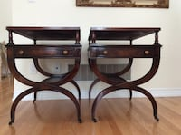 Set of 2 vintage side tables