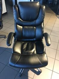 black leather office rolling armchair Ventura, 93003