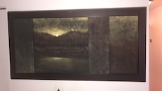 black and brown wooden decorative painting