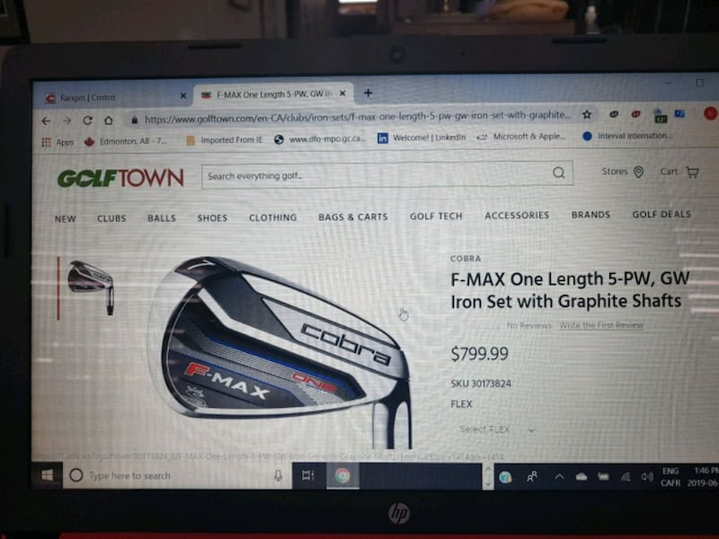 New never used cobra irons still in rapping  af2fe296-8ee4-4568-ba3f-c3c87c6390a7