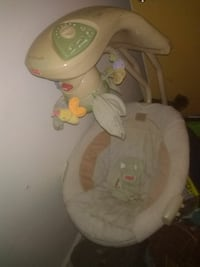 white and brown Fisher-Price cradle n swing Merced, 95341