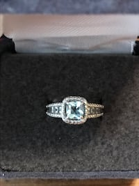 Sterling silver ring with Aquamarine and White Sapphires size 5.5 Middletown, 21769