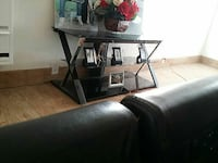 tv stand 3 layer glass