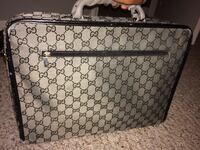 Black and grey Gucci briefcase 100% real Cartersville, 30121