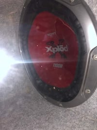 black and red Sony Xplod subwoofer Thornton, 80229