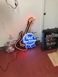 blue and white Bud Light neon light signage Louisville, 40205