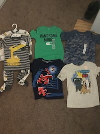 Brand new clothes for boys size 4t 2 pajamas, 4 tops  Lancaster, 93535