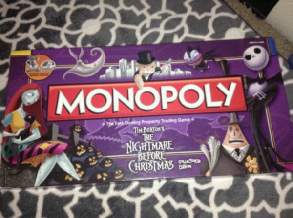the nightmare before christmas monopoly board game - Nightmare Before Christmas Board Game